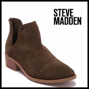 STEVE MADDEN ANKLE BOOTIES BLOCK HEEL BOOTS A3C